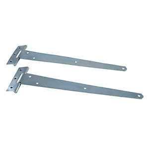 4Trade Tee Hinge Light Duty Zinc Plated 300mm
