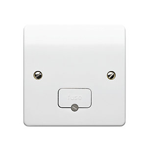 MK Fused Connection Unit Unswitched FCU Flex Outlet K337WHI