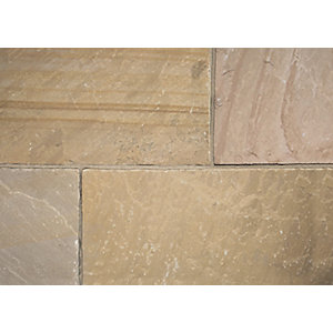 Natural Indian Sandstone Buff Paving Project Pack 15.84 M2