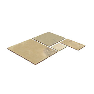 Natural Paving Classicstone Golden Fossil Paving Project Pack 18.9m²