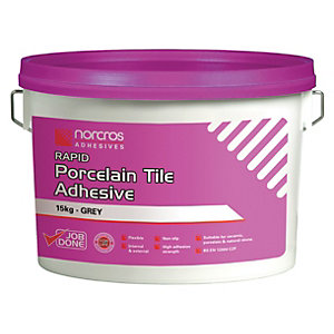 Norcros Rapid Set Tile Adhesive Bag in    A Bucket 15kg