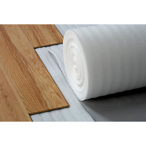 4Trade Comfort White Foam Flooring Underlay For Laminate and Engineered Flooring 15m x 1m x 2mm - Carton of 6