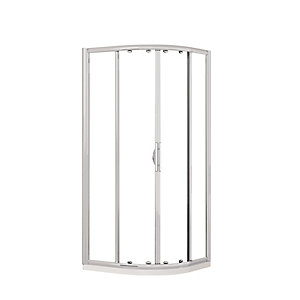 Novellini Lunes Quadrant Shower Enclosure 900mm x  900mm Clear Glass Chrome LUNESR90-1K