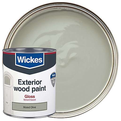 Wickes exterior gloss paint muted olive 750ml - Wickes exterior gloss paint set ...