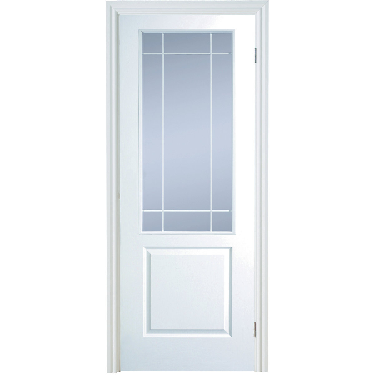 Interior Moulded Hobson 2 Panel Smooth Hollow Core Clear Glazed Door
