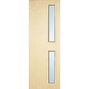 Internal Flush PWD Paint Grade FD30 Fire Door 16G Glazed Georgian