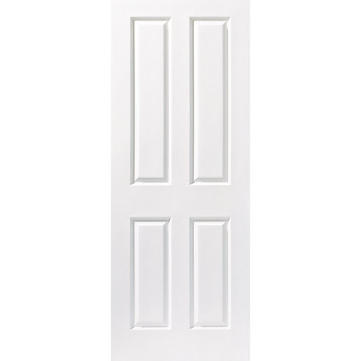 Internal Moulded 4Panel Grain FD30 Fire Door 1981mm x 762mm x 44mm