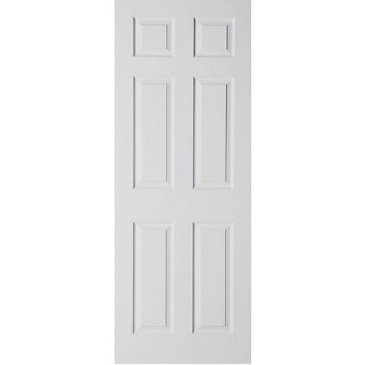 Moulded 6 Panel Grained Hollow Core Internal Door 1981mm x 610mm x 35mm