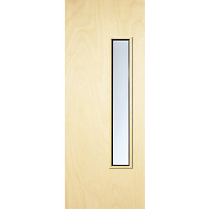 Internal Flush PWD Paint Grade FD30 Fire Door 18G Glazed Georgian