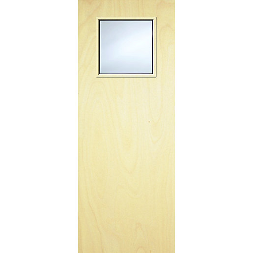 Internal Flush PWD Paint Grade FD30 Fire Door 1G Glazed Georgian 1981mm x 762mm x 44mm