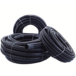 Polypipe 110mm x 50m Black Ridgicoil Electric Includes Coupler RC110X50BE