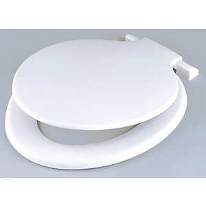 Cme Celmac Toilet Seat & Cover White Calypso SCA21WH Pack 5