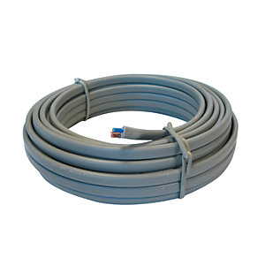 4TRADE 6242Y 1.0mm Twin & Earth Cable Grey 10m