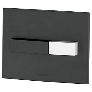 Wirquin Pro Line Black Dual Flush Push Plate with Black and White Push Buttons (Cistern Only)
