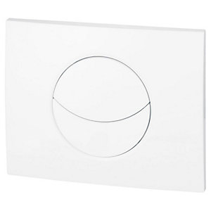 Wirquin 50718328 Pro Moon Shiny White Dual Flush Push Plate (Cistern Only)