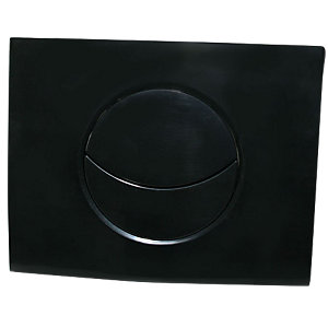 Wirquin 50718471 Pro Moon Shiny Black Dual Flush Cistern Push Plate