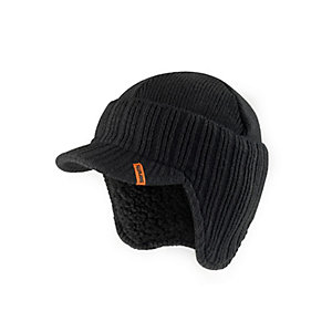 Scruffs Black Peaked Knitted Hat