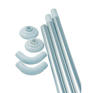 TP Bathrooms Shower Curtain Modular Rail Anodised Shower Accessory