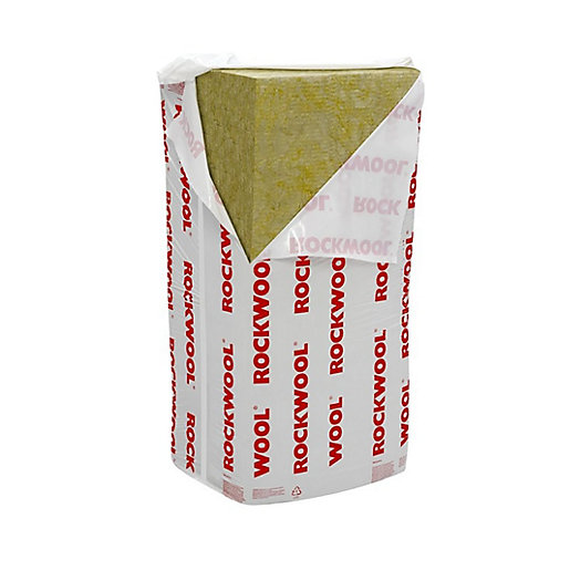 Rockwool RWA45 Semi-Rigid Acoustic Insulation Slab 100mm x 1200mm x 600mm (2.88m2 pack)