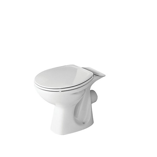 Roca Polo Close Coupled Open Rim Toilet Pan White A34229A003