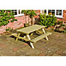 Wickes Wooden Picnic Bench 1.5x1.5m