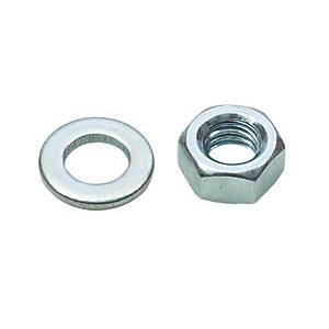 Rawlplug Nuts & Washers M6 Zinc Plated Pack 20