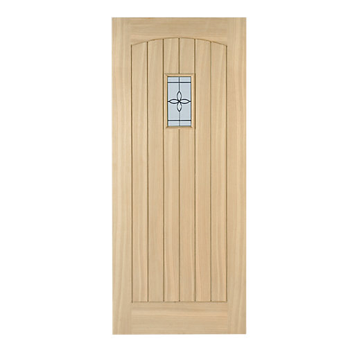 External Cottage Oak Triple Glazed Leaded Door 2032mm x 813mm x 44mm