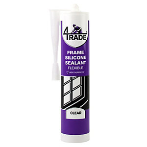 4TRADE Frame Silicone Sealant Clear 310ml (Minimum purchase quantity 2)