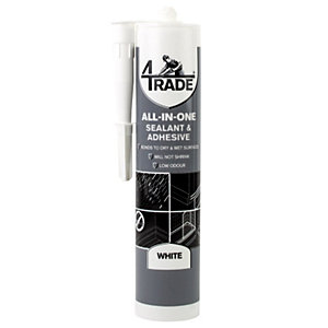 4Trade All-in-one Sealant, Adhesive and Filler White 290ml""