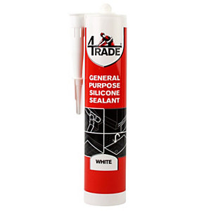 4Trade GP Silicone Sealant White 310ml