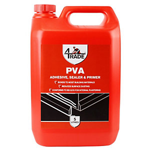 4Trade PVA Building Adhesive, Sealer and Primer 5L