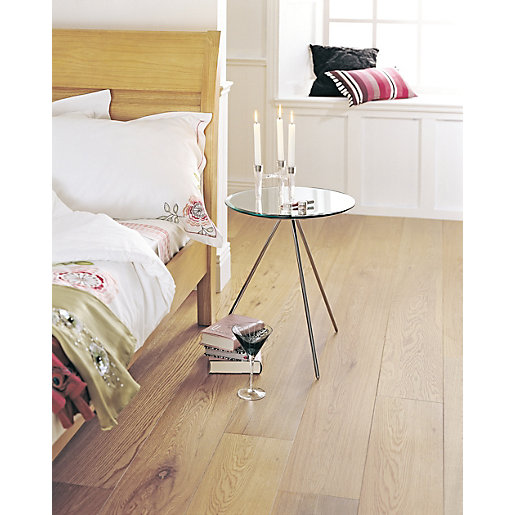 Engineered Flooring Elka Rustic Lacquered Oak Uniclic