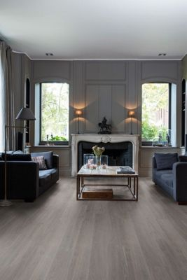 Luxury Vinyl Wood Effect Quick Step Silk Oak Dark Grey Flooring 1251mm X 187mm 45