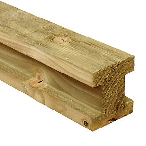Wickes H Shaped Timber Slotted Wooden Fence Post 83x83mmx2.4m