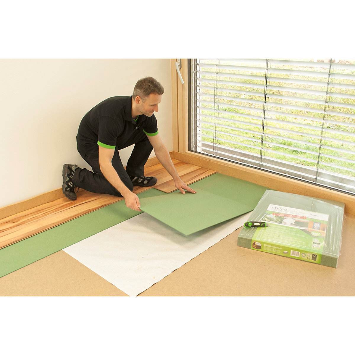 4trade Green Fibreboard Flooring Underlay Size 850mm X 590mm 5mm