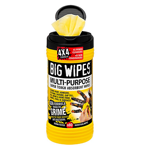 Big Wipes 4x4 Formula Multi-Purpose Hand Wipes 80 Pack