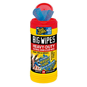 Big Wipes 4 x 4 Formula HEAVY-DUTY TEXTURED, Scrub & Clean WIPES, 80 Pack""
