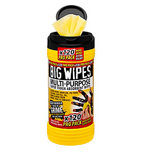 Big Wipes 4 x 4 Multi Purpose Wipes Propack 120