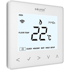 Solfex Neoair Wireless Thermostat for Smart Phone Control Glacier White