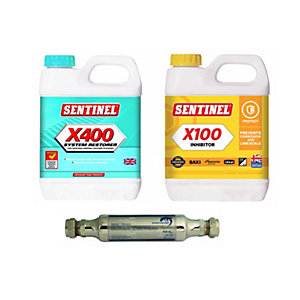 Sesi 15mm Electrolytic Scale Inhibitor with Sentinel X100 Heating System Inhibitor & X400 Sludge Remover