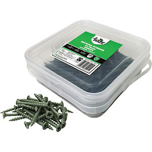 4Trade 200 x Decking Screws Green 5mm x 75mm - 4 Tubs