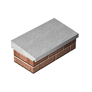 Supreme Once Weathered Coping Concrete Straight 460mm x 915mm