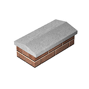 Supreme Twice Weathered Coping Straight 230mm x 610mm - Pack of 40