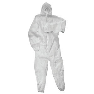 4Trade Hooded Disposable Overall Size L