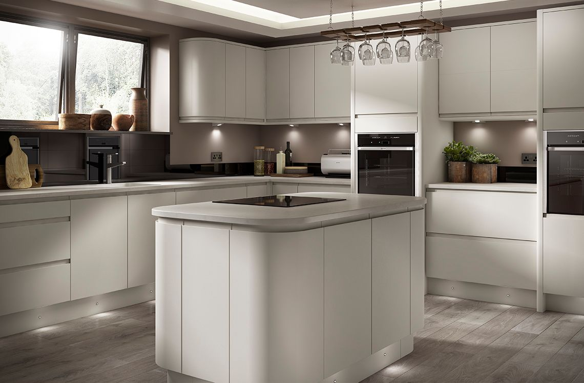 Matt Dove Grey Kitchen Soho Range Benchmarx Benchmarx Kitchens Joinery