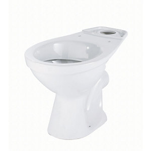 Twyford Option Horizontal Outlet Close Coupled Toilet Pan White OT1148WH