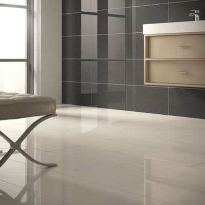 Basaltina White Porcelain Wall and Floor Tile 300x600mm