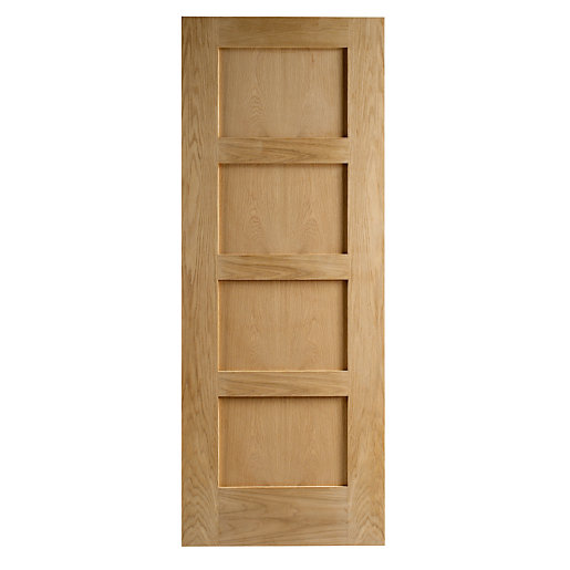 Hardwood Oak Shaker 4 Panel Internal Door 1981mm x 610mm x 35mm