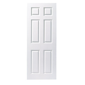 Moulded 6 Panel Smooth Hollow Core Internal Door Height 1981mm