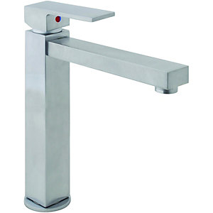 Wickes Clear Mono Mixer Kitchen Sink Tap Satin Finish
